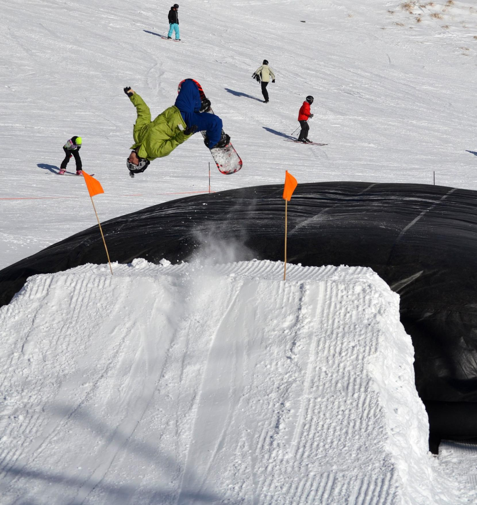 Commonly Used In The World Of Professional And Sporting Stunt Jumps Supersized Airbag Returns To Ski Area Most Weekends From 10am 4pm Is Set
