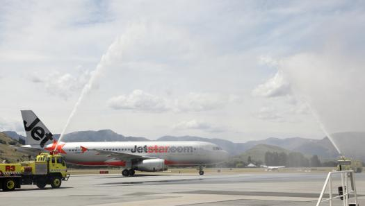 First Jetstar international flight into Queenstown