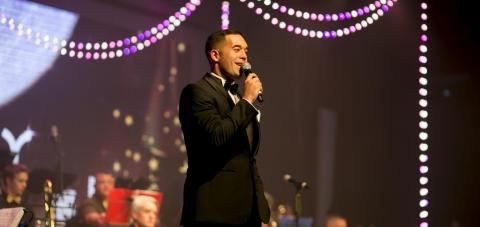 International Athletics medal winner and presenter Jordan Vandermade hosts the SKYCITY ball