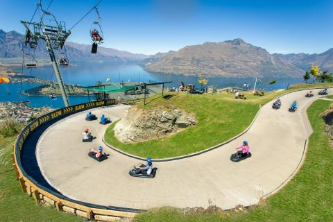skyline queenstown luge view with chairlift easy resizecom