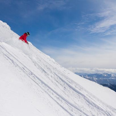 Emily Estremo having a pow pow day at The Remarkables